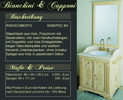 Italienische Badmöbel und Wohnkonzepte ~ Bianchini & Capponi