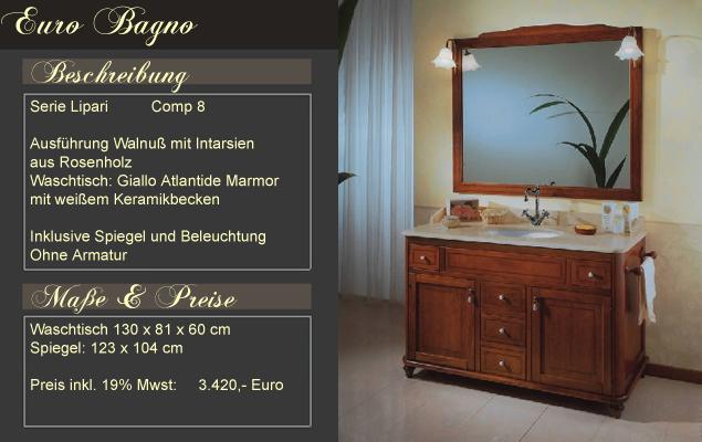 Badmöbel mediterran  Italienische Badmöbel - Mediterrane Badezimmer von klassisch bis ...